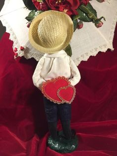 2019 Byers Choice Valentine/'s Day GIRL w//Gold Gift Girlfriend New Early Release!