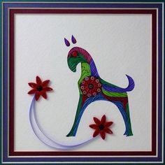 Quilled Folk Art Horse 2