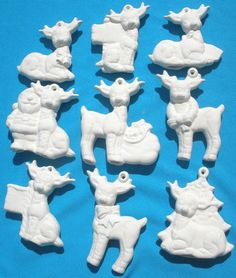 Bisque/Unpainted Ceramic Shapes, Stocking Flat Hanging Decoration ...