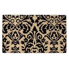 Black Silhouette Doormat