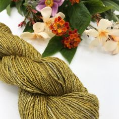 'Olive' is a semi-solid olive-green with warm messing streaks. All naturally dyed with yellow onion skins. The yarn base is a combination of yak and silk fibers. Olive Green, Onion, Fiber, Base, Silk, Yellow, Nature, Decor, Bulb