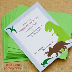 Awesome Dinosaur Party and link to Etsy for printables