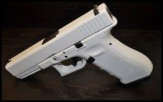 Glock 17 with Snow White Cerakote. #cerakote #starwars