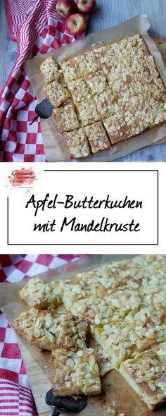 Apfel-Butterkuchen mit Mandelkruste   Backen   Rezept   Blechkuchen
