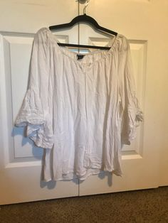 edcd17625d21 Vinted closet · My Torrid Lace Trim Bell Sleeve Blouse by Torrid. Size 2 X  / 20 for