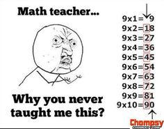 A funny picture of Math teacher