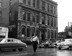DescriptionChicago Police Station. One of the oldest in the city. Subject TermsPolice officers   Police stations   Urban landscapes   Automobiles PhotographerMead, Mildred Photograph Date1954-09-29 Location113 W. Chicago Avenue   Chicago, Illinois