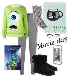 """""""MIKE WASOWSKI!!💚💙💚💙"""" by hgw8503 ❤ liked on Polyvore featuring NIKE, UGG Australia, LifeProof, GlassesUSA, INC International Concepts and Surya"""