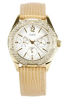 Price:$138.64 #watches Guess W16574L1, Stainless steel case, Calfskin strap, White dial, Quartz movement, Scratch-resistant mineral, Water resistant up to 3 ATM - 30 meters - 100 feet Mineral Water, Stainless Steel Case, Omega Watch, Quartz, Watches, Accessories, Jewelry, Clocks, Jewlery