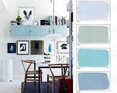 WABI SABI Scandinavia - Design, Art and DIY.: Soft spring colors - blue and grey pastels Design Seeds, Small Space Living, Small Spaces, 4 Season Room, Scandinavia Design, Interior Paint Colors, Paint Colours, Blue Palette, Modern Design