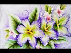 Lírios e Flor de Cerejeira (Tecido) - YouTube