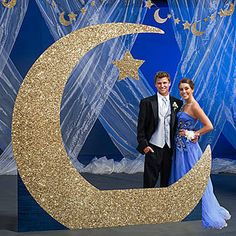 To the Moon and Back Crescent Moon Photo Prop