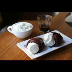 Red Velvet Popovers with Marshmallow Cream