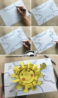 children activities, more than 2000 coloring pages Art For Kids, Crafts For Kids, Arts And Crafts, Space Preschool, School Clipart, Summer Crafts, Kids And Parenting, Spring Time, Art Lessons