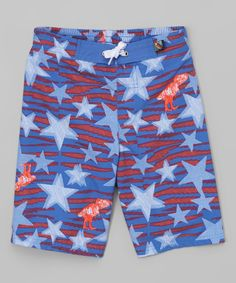 Look at this Sky Dino & Stars Boardshorts - Boys on #zulily today!