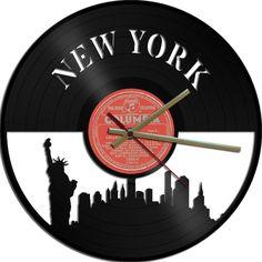 New York Vinyl Record Clock