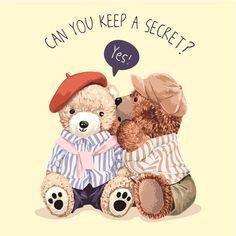 Cartoon Toys, Cartoon Art, Teddy Bear Design, Bear Illustration, Vector File, Cute Wallpapers, Cute Pictures, Pattern Design, Deco