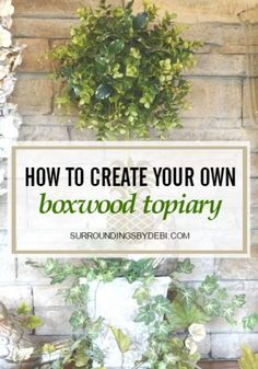 Topiary How to Make the Perfect Boxwood Topiary in 5 Easy Steps - Tomorrow is Memorial Day - and the time we begin looking for Patriotic Decor Ideas. Join me today as we look back at 5 special decor ideas from past posts. Tea Party Centerpieces, Christmas Centerpieces, Lemon Vase, Boxwood Topiary, Topiary Trees, Decopage, Mod Podge Crafts, Decoupage Glass, Tea Party Theme