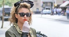 Madonna in Desperately Seeking Susan directed by Susan Seidelman, 1985 Madonna Movies, 1980s Madonna, Madonna Material Girl, Material Girls, Trending Sunglasses, Sunglasses Women, Desperately Seeking Susan, Madonna Pictures, Doc Brown