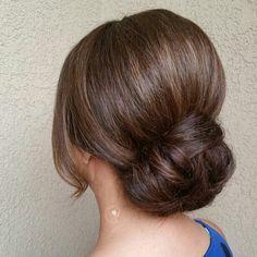 Sleek elegant low bun updo