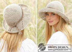Очень простенькая шляпа крючком с широкими полями