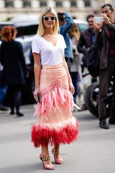 6832383fc3fb Paris Fashion Week    fringed maxi skirt with a simple white T shirt- Tap  the link now to see our super collection of accessories made just for you!