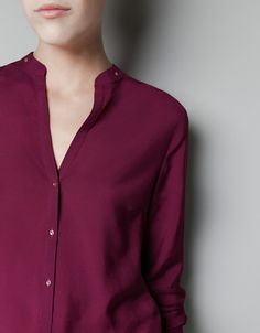 MAO COLLAR SHIRT - Shirts - Woman - ZARA