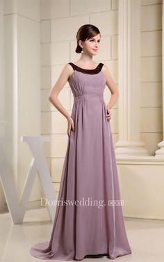 #Valentines #AdoreWe #Dorris Wedding - #Dorris Wedding Sleeveless A-Line Chiffon Brush Train and Gown With Ruching - AdoreWe.com