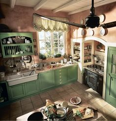 Marchi Group - English Country-Style Kitchen Old England - Built-in ...