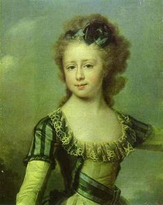 'Portrait of Grand Duchess Maria Pavlovna as a Child', Oil by Dmitry Grigoryevich Levitsky (1735-1822, Ukraine)