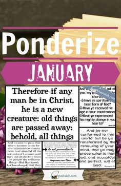 What Scriptures Will You Be Ponderizing in January?