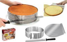 Kitchen & Dining Room : Frieling Layer Cake Slicing Kit Cool Cooking Gadgets Advantage Use Cool Cooking Gadgets Kitchen Gadget. New Kitchen Gadgets, Kitchen Hacks, Kitchen Tools, Kitchen Dining, Dining Room, Cooking Gadgets, Cooking Tools, Cooking Supplies, Cake Slicer