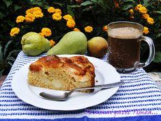 Ce a mai gatit Timea...: Tarta cu pere si budinca de vanilie