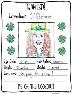 2nd grade did these last year! So much fun! St Patrick's day activity