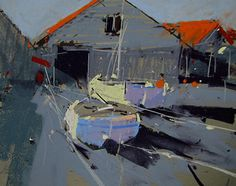 Boat Shed by Tony Allain Pastel ~ 8 x 10