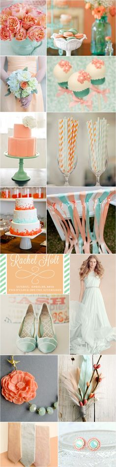 Praise Wedding » Wedding Inspiration and Planning » Wedding Color Palette – Mint Green & Peach