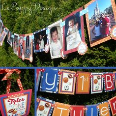 Not so much the design, but the ideas are cute. I wanted to make a string of pics for 1st bday and here it is.