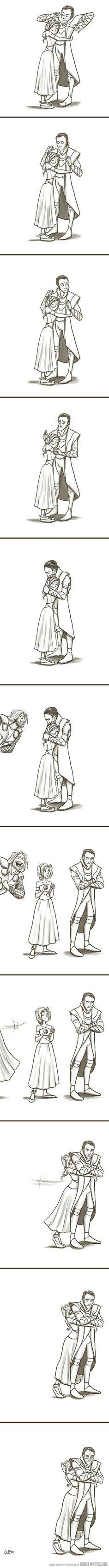 I think it's so sweet!❤ It's hard to hug Loki, but it isn't impossible