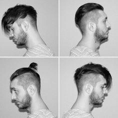 Instagram photo by mikelioss - My variation of disconnected undercut/top knot. #undercut #disconnectedundercut #manbun #mantopknot #slickback #undercutbun #hairstyle