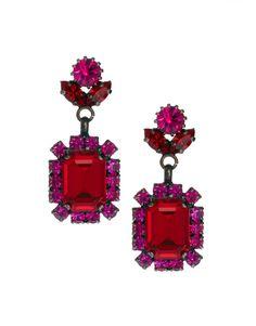 crystal drop earrings / asos
