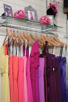 All of our bridesmaid dresses come in lots of different colours to suit your wedding theme.