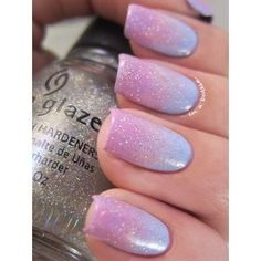 Pink & Lilac Gradient Nails