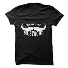 A very funny tee for the guy you know who loves his facial hair. Be a man! Grow a mustache and then get this shirt to help show it off! Respect The Mustache is a must have t-shirt for any man whos proud of his facial hair and wants to show it.