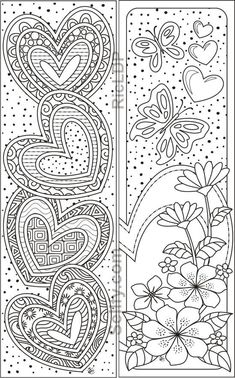 8 Coloring Bookmarks with Hearts- 8 Coloring Bookmarks with Hearts 8 designs coloring bookmarks 8 Coloring Bookmarks with Hearts- 8 Coloring Bookmarks with Hearts 8 designs coloring bookmarks Donna Jones Valentines 8 nbsp hellip day gifts for him donut Food Coloring Pages, Printable Coloring Pages, Coloring Sheets, Coloring Books, Heart Coloring Pages, Free Adult Coloring, Book Markers, Art Projects, Valentines