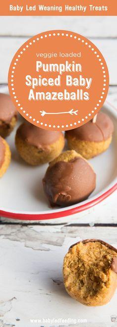 Kürbis Baby Amazeballs - Food to Try - halloween treats Vegan Treats, Healthy Treats, Healthy Meals For Kids, Kids Meals, Baby Food Recipes, Gourmet Recipes, Pasta Recipes, Healthy Recipes, Healthy Halloween Treats