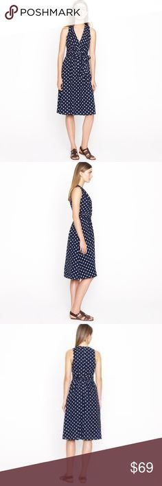 J. Crew Elise polka dot dress Perfect condition. No flaws, it's very soft and great for all seasons. True to size J. Crew Dresses Midi