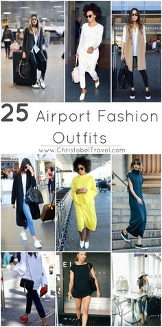 Here are 25 Airport Fashion Outfits that we love and that will make you look chic as you travel in style. Stay true to your sense of style when you travel. Airport Travel Outfits, Travel Attire, Travel Dress, Airport Style, Airport Fashion, Airport Attire, Airport Outfit Spring, Winter Leggings, Winter Outfits Women