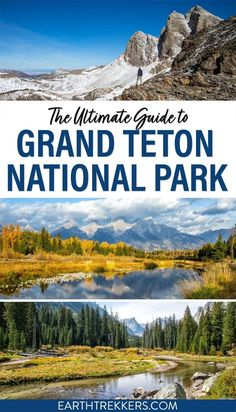 The complete guide to Grand Teton National Park. Best things to do in Grand Teton, sample Grand Teton itinerary, best hikes, best viewpoints, when to go, where to stay, maps, photos, and essential travel planning tips. National Parks Map, Grand Teton National Park, Teton Mountains, Outdoor Playground, Cheap Flights, Best Hikes, Travel Advice, Travel Essentials, Trip Planning