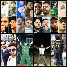 The similar poses of both my favourites Shahid Afridi & Ahmad Shahzad
