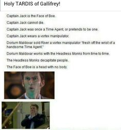 Captain jack harkness, face of boe, doctor who